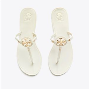 Tory Burch Womens White Color Jelly Sandals Size 9